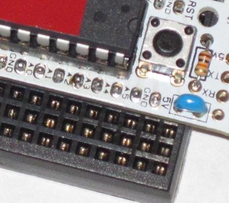 Close up of pins